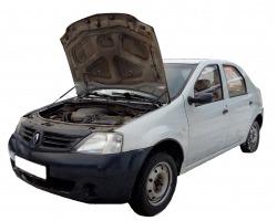Газовый упор капота Renault Logan I поколение (04-15г.в.)