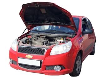 Газовый упор капота Chevrolet Aveo T250 (06-12 г.в.)